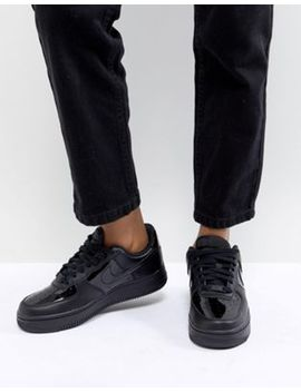 Nike Air Force 1 '07 Sneakers In Black Patent by Nike