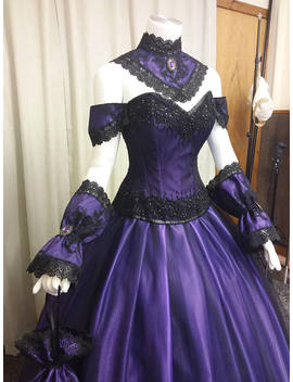Free Shipping, Venice Ball Gown,  Steampunk Dress, Gothic Wedding Dress, Victorian Gown, Purple Ballgown, Halloween Gown, Vampire Dress by Etsy