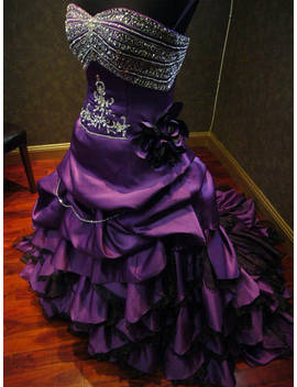Royal Purple Wedding Dress Alternative Offbeat Custom Made To Your Measurements by Etsy