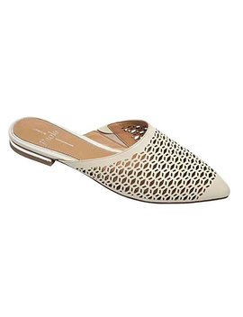 Linea Paolo Daisy Women's Loafer   Perforated Slip On Mule by Linea Paolo