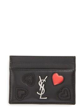 Monogram Lambskin Credit Card Case by Saint Laurent