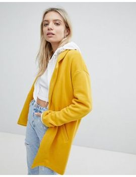 Pull&Bear Longline Tailored Coat With Pocket Detail by Pull&Bear