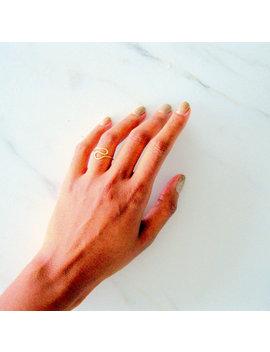Wavy Statement Ring, Minimalist Ring, Boho Stacking Rings, Thin Modern Ring, Skinny Ring, Skinny Sterling Ring, Skinny Gold Ring by Etsy