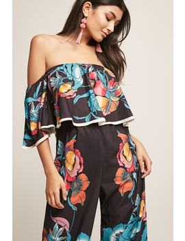 Floral Flounce Jumpsuit by Forever 21