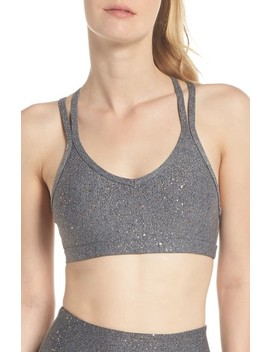 Double Back Alloy Speckled Bra by Beyond Yoga