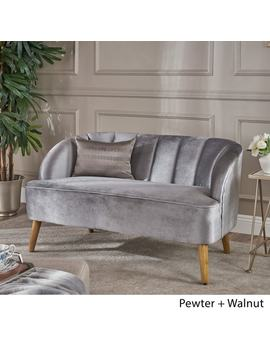 Amaia Modern Velvet Loveseat Sofa By Christopher Knight Home by Christopher Knight Home