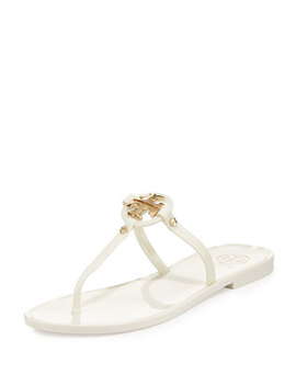 Mini Miller Jelly Thong Sandal, Ivory by Neiman Marcus