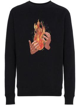 Fire Print Long Sleeve Sweatshirt by Off White