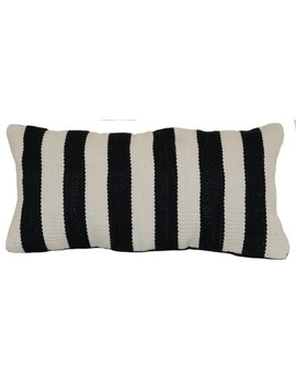 Outdoor Throw Pillow Lumbar   Woven Bold Stripe Black   Project 62™ by Shop This Collection