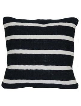 Outdoor Throw Pillow Square   Woven Narrow Stripe Black   Project 62™ by Shop Collections