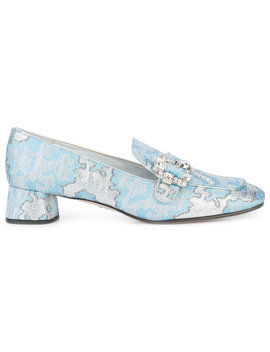 Crystal Lurex Loafers by Prada