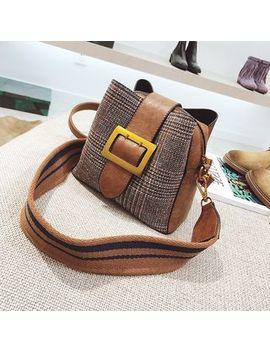 Plaid Buckled Shoulder Bag by Nautilus Bags