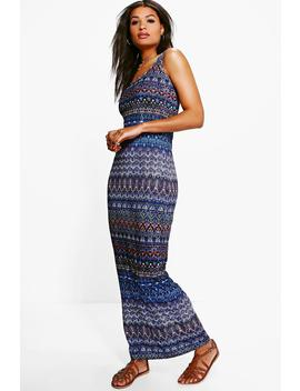 Sophia Printed Sleeveless Maxi Dress by Boohoo