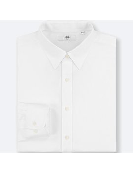 Men Easy Care Oxford Regular Fit Shirt (No Pocket) by Uniqlo
