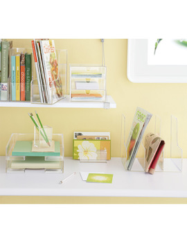 Clear Magazine Holder by Container Store