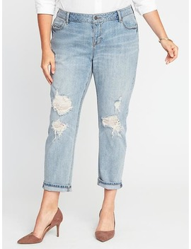 Plus Size Boyfriend Straight Jeans by Old Navy