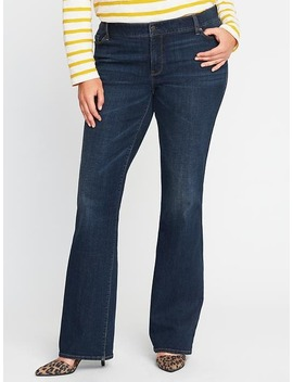 Smooth &Amp; Slim Mid Rise Plus Size Boot Cut Jeans by Old Navy