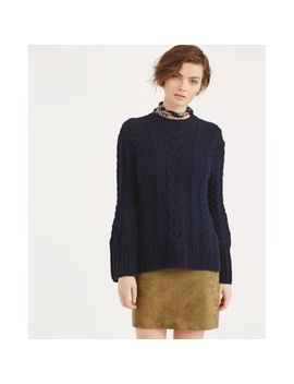 Cable Cotton Dolman Sweater by Ralph Lauren