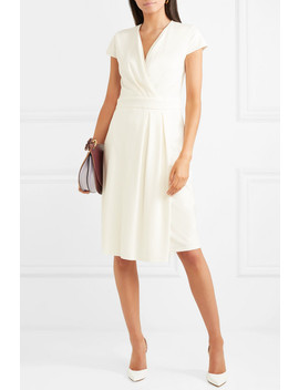 Wrap Effect Stretch Crepe Dress by Max Mara