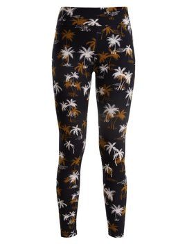 Acapulco Tree Print Performance Leggings by The Upside