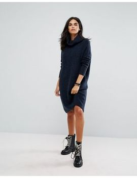 Only Roll Neck Knitted Sweater Dress by Only