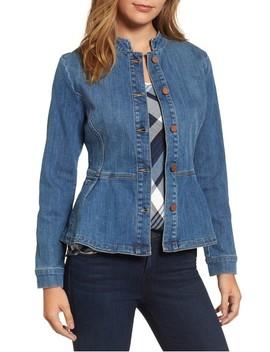 Peplum Denim Jacket by Halogen®