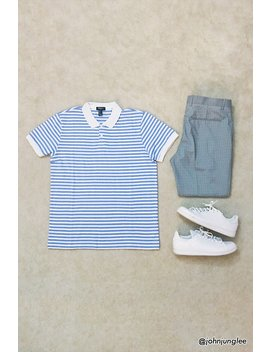 Solid Trim Stripe Polo by Forever 21