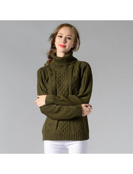Fashion Womens Sweaters Slim Turtleneck Twisted Knitting Solid Color Long Sleeve by Unbranded