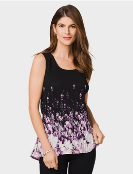 Roz&Ali Pixie Pleat Sleeveless Blouse by Dressbarn