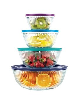 Pyrex 8 Piece 100 Years Glass Mixing Bowl Set (Limited Edition) by Pyrex