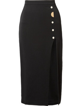 Dahlia Embellished Stretch Silk Crepe Pencil Skirt by Cushnie Et Ochs