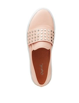 Qupid Studded Slip On Sneakers by Charlotte Russe