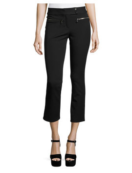 Metro Cropped Kick Flare Pants, Black by Neiman Marcus