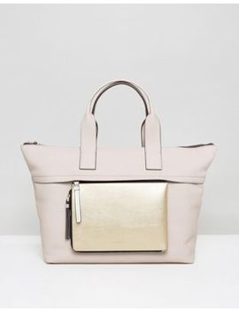 Calvin Klein Large Tote Bag With Detachable Zip Pouch by Calvin Klein
