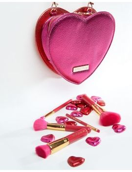 Spectrum Heart Bag And Brush Set by Spectrum