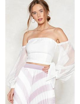 Be Off With You Off The Shoulder Crop Top by Nasty Gal