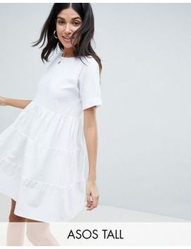 Asos Design Tall Cotton Smock Dress With Panels by Asos Design