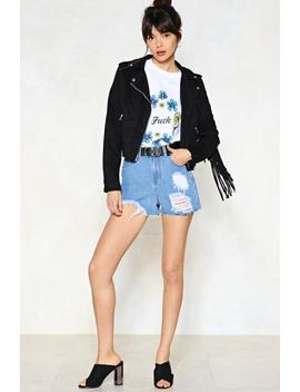 Trouble Ahead Denim Shorts by Nasty Gal