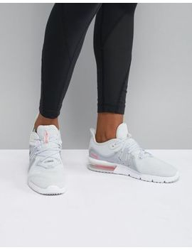Nike Running Air Max Sequent Trainers In Grey And Pink by Nike