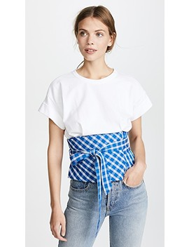 Obi Belted Combo Tee by Sea