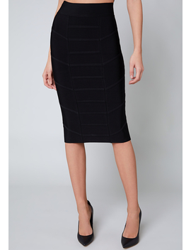 Betsey Midi Skirt by Bebe