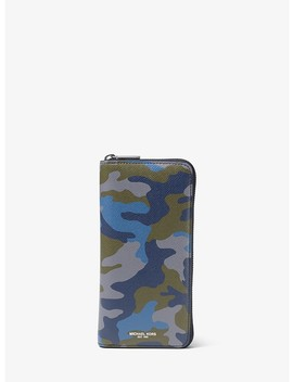 Harrison Camouflage Zip Around Wallet by Michael Kors Mens