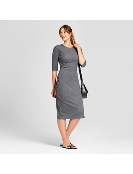 Women's Heathered Cinched Waist Dress   A New Day™ by A New Day™