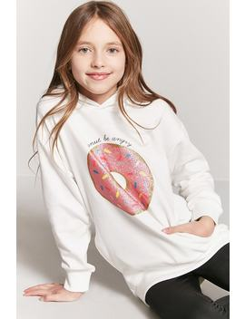 Girls Donut Graphic Hoodie (Kids) by F21 Contemporary