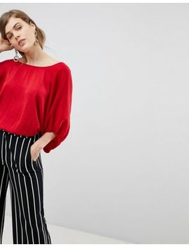 Asos Top With Open Tie Back In Satin by Asos Design