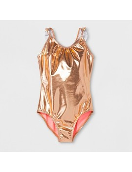 Girls' Rise And Shine One Piece Swimsuit   Cat & Jack™ Gold by Cat & Jack™