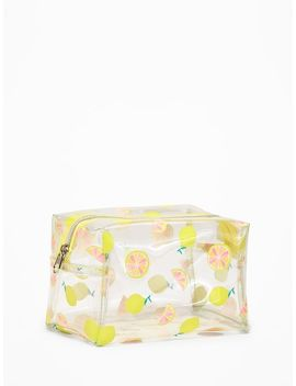 Clear Printed Cosmetic Bag For Women by Old Navy