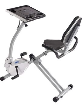 Stamina 2 In 1 Recumbent Exercise Bike And Workstation by Stamina Products