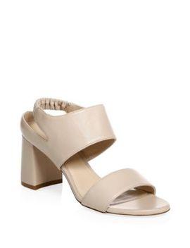 Erica Elastic Strap Block Heel Sandal by Stuart Weitzman