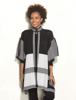 Jones Studio® Plaid Cape by Dressbarn